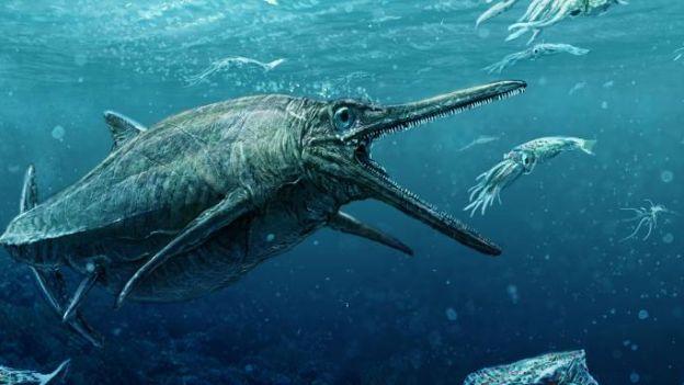 Skameniały potwór odnaleziony w Szkocji. Przy nim Nessie to niewiniątko