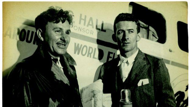 Wiley Post i Harold Gatty oblecieli razem świat w 1931 r.