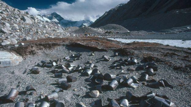 Mount Everest i śmieci