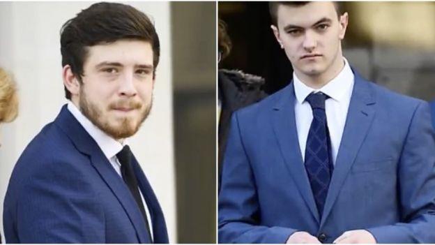 Oskarżeni Luke Rance (z prawej) i Brandon Kerrison