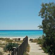 Playa Migjorn - biały piasek i spokój