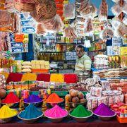Na bazarze w Indiach