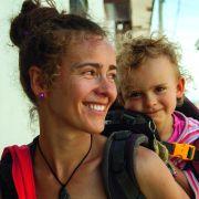 Joasia Nowak z córką Gają (w Chachapoyas, Peru)
