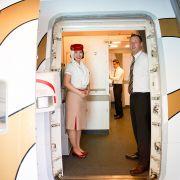 Boeing 777-300ER linii lotniczej Emirates to największy samolot pasażerski, jaki kiedykolwiek latał do Polski i z Polski