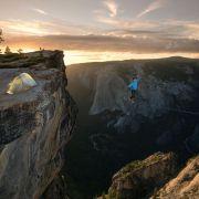 Spacer po linie w Yosemite