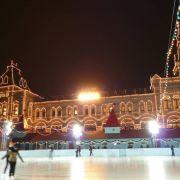 Lodowisko na Placu Czerwonym w Moskwie