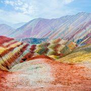 2. Tęczowe góry w Chinach