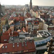 Widok na Wrocław z wieży widokowej