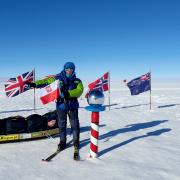 Małgorzata Wojtaczka na biegunie południowym.