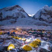 Obóz na Khumbu w drodze na Mount Everest
