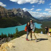 Miłość w podróży. Jezioro Peyto, Alebrta, Kanada