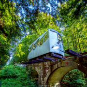 741 - metrów wysokości  ma Góra Parkowa w Krynicy- -Zdroju. Kursuje na nią  kolejka linowa – przejazd  na górę i w dół kosztuje 16 zł  (ulgowy 13 zł).