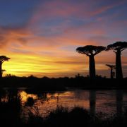 Zachód słońca nad Madagaskarem