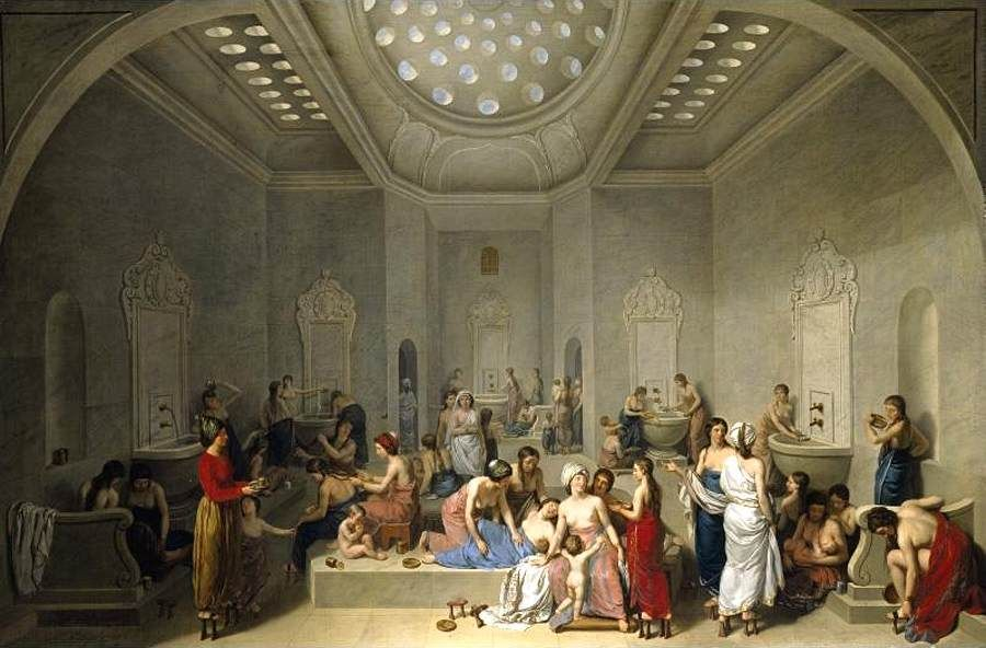 jean-jacques-francois-lebarrier-French-1738-1828-a-female-turkish-hammam