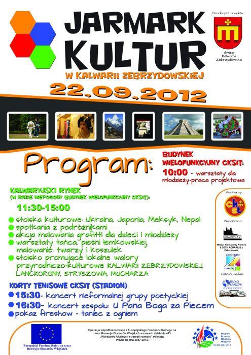 Stowarzyszenie Kalwaria Art zaprasza na Jarmark Kultur, który odbędzie się 22 września w Kalwarii Zebrzydowskiej!