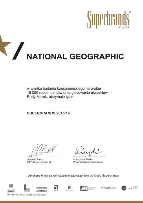 Superbrands - certyfikat NG Polska