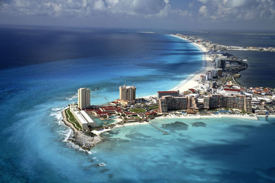 Plaża w Cancun, Meksyk