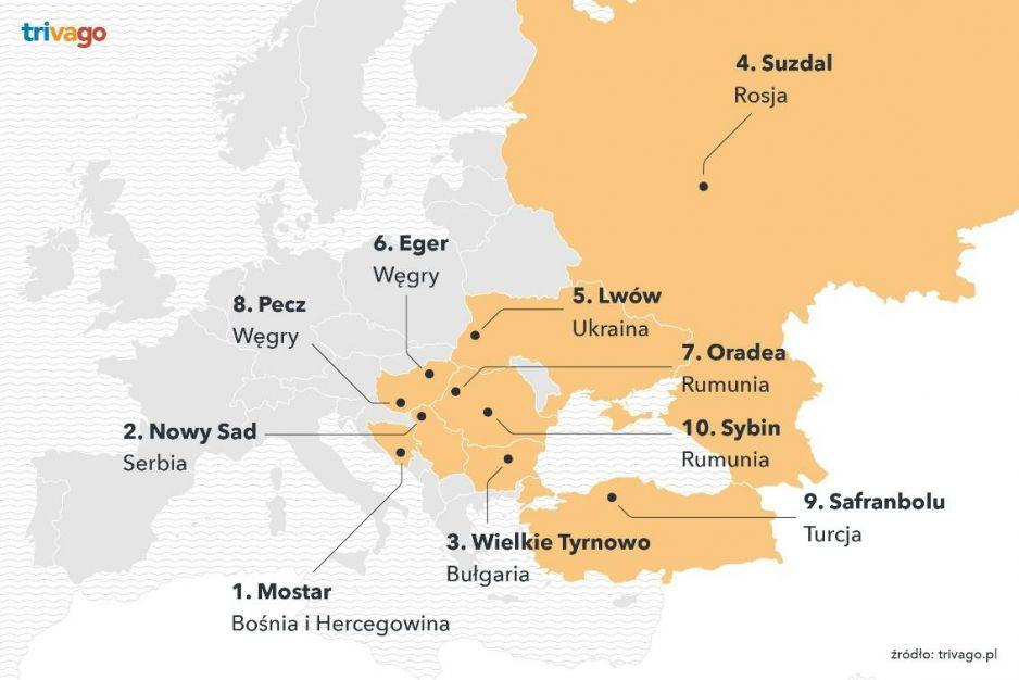 Ranking 100 europejskich kierunków. Na liście 7 polskich miast