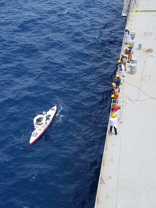 Tak wyglądała akcja ratowania Aleksandra Doby. Trzecia Transatlantycka Wyprawa Kajakowa trwa
