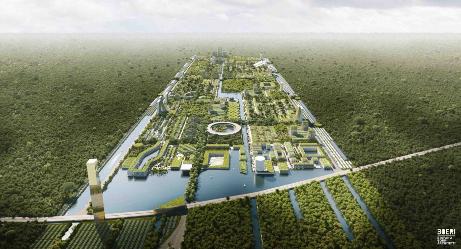Ekomiasto mogłoby pomieścić 130 tys. mieszkańców (fot. stefanoboeriarchitetti.net)