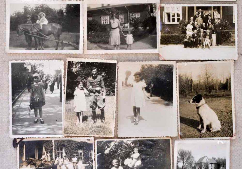 Kolaż zdjęć rodziny Romanowskich sprzed II wojny światowej fot. DERMOT TATLOW