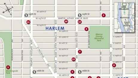 Mapa dzielnicy Harlem