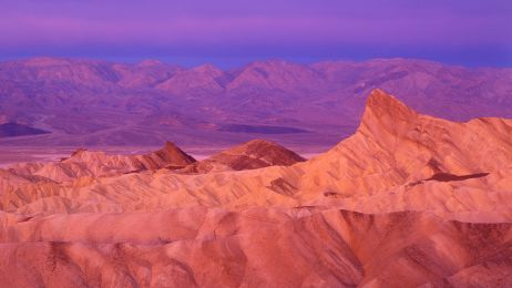 Zabriskie Point Sunrise, Death Valley Californis