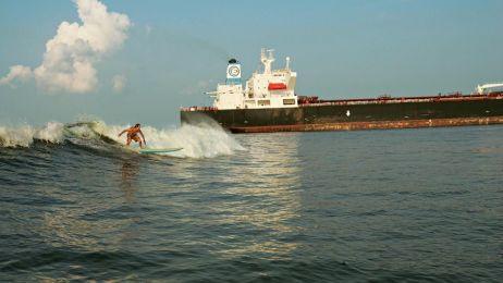 teksas fala surfing