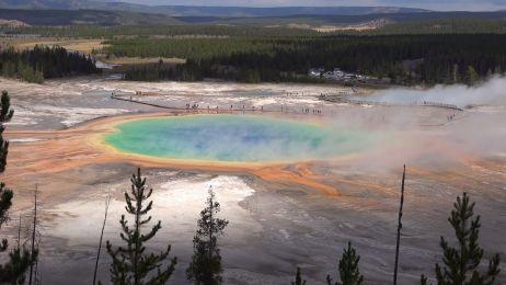 Yellowstone z kamery drona