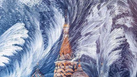 Baśniowa Moskwa w czasie zimy