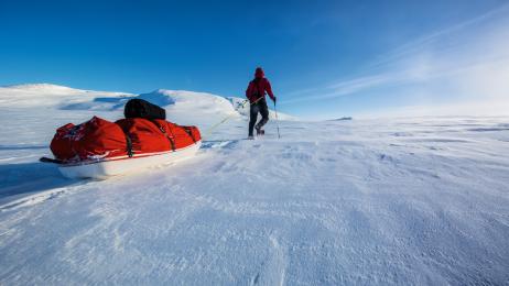 Na rozległym płaskowyżu Hardangervidda słoneczne dni  są wyjątkiem.