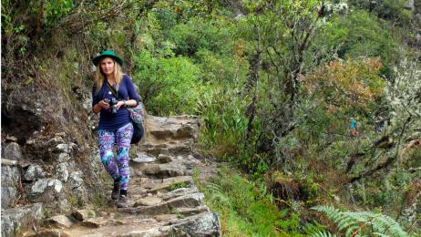 Redaktor naczelna w drodze na Machu Picchu.