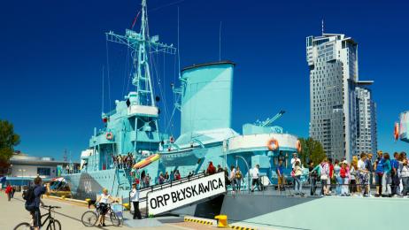 Okręt muzeum ORP Błyskawica jest najstarszym na świecie zachowanym niszczycielem. Wodowany był  w 1936 r.