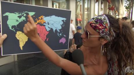 Amerykanie zostali poproszeni o wskazanie Korei Północnej na mapie