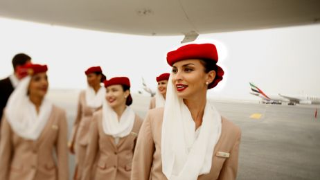 Sekerty urody stewardess Emirates