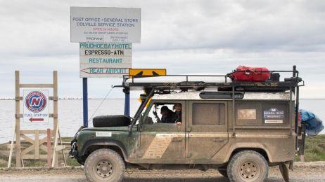 Michał Woroch i Maciej Kamiński po 312 dniach podróży dotarli 31 lipca 2018 roku do Deadhorse/Prudhoe Bay na Alasce.
