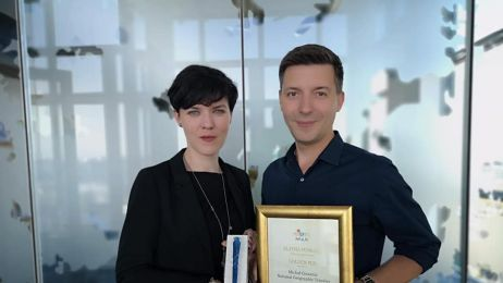 Michał Cessanis ze Złotym Piórem