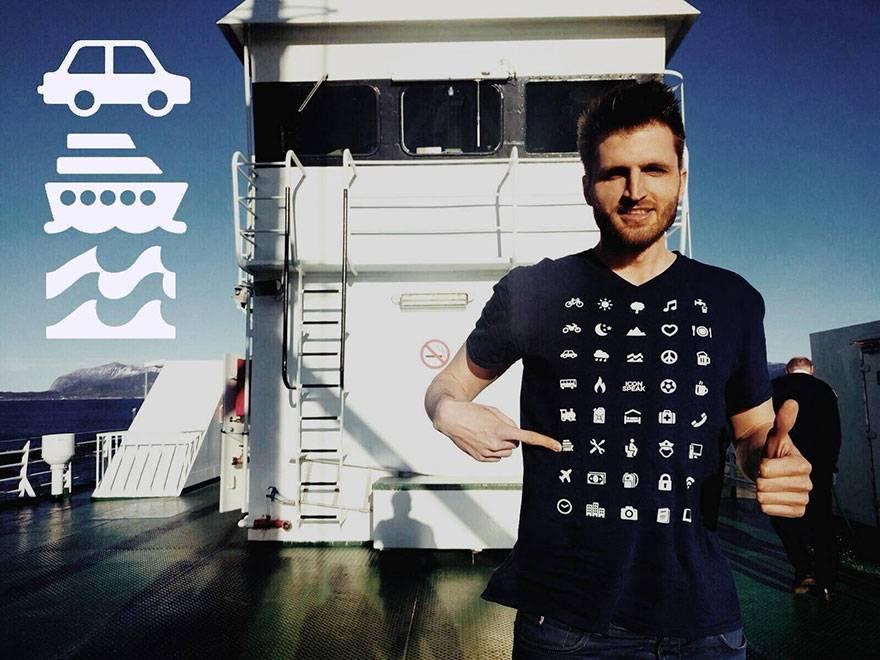 2. Zdjęcie  - Te koszulki pozwalają porozumieć się w każdym miejscu na świecie. Nawet jeśli nie znasz języka