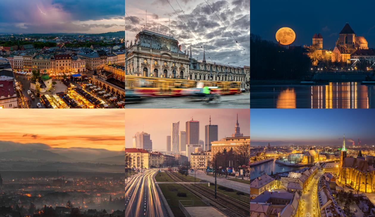 1. Zdjęcie  - Warszawa, Lublin, Łódź - zachwyciły nas na tych zdjęciach. Zobacz galerię polskich miast w niezwykłej odsłonie