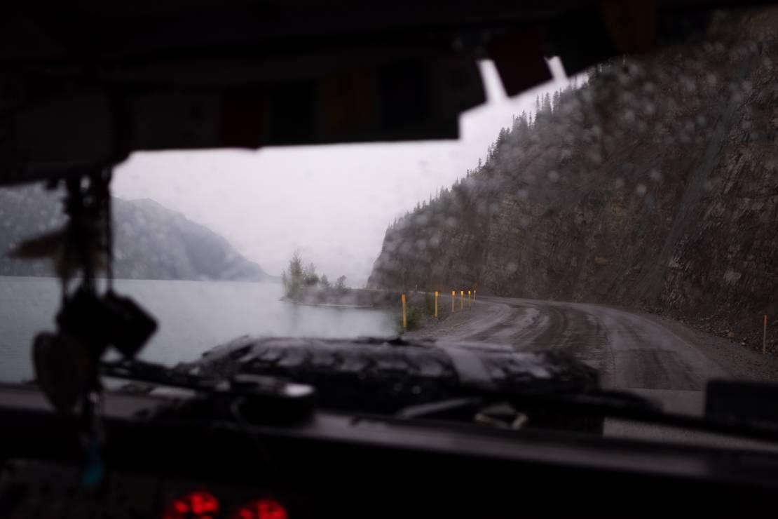 Droga numer 11 (Dalton Hwy) z Fairbanks do Deadhorse. - Dojechali! Wheelchair Trip: podróż z jednego krańca świata na drugi