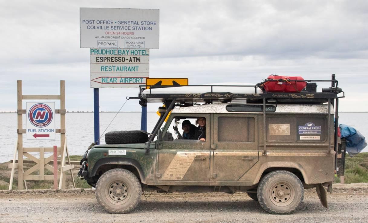 Michał Woroch i Maciej Kamiński po 312 dniach podróży dotarli 31 lipca 2018 roku do Deadhorse/Prudhoe Bay na Alasce. - Dojechali! Wheelchair Trip: podróż z jednego krańca świata na drugi