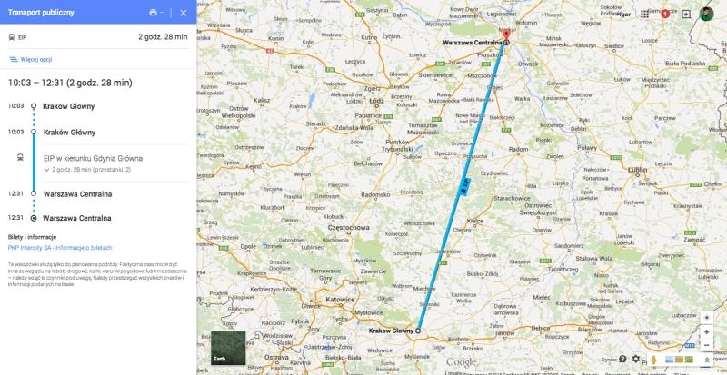 Pociagi Pkp Wjechaly Na Mapy Google National Geographic